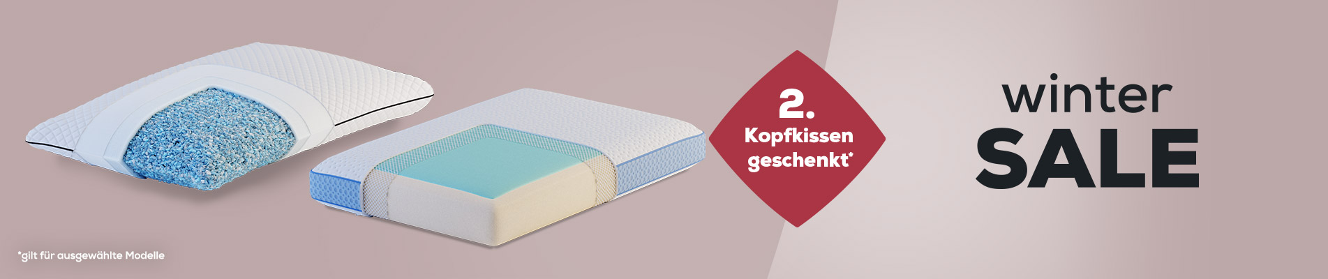 Winter Sale Kopfkissen  banner | Swiss Sense