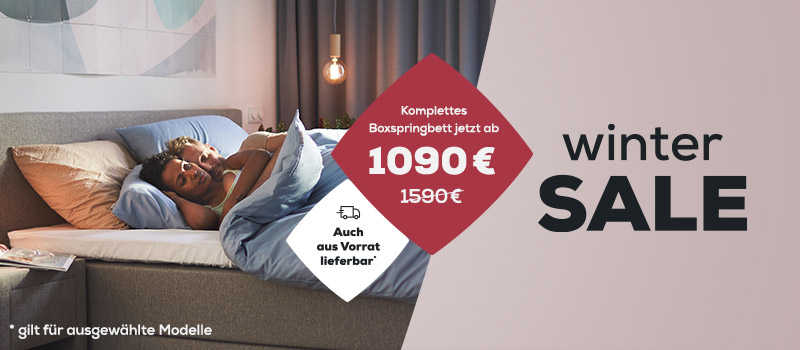Winter Sale Boxspringbetten  banner | Swiss Sense