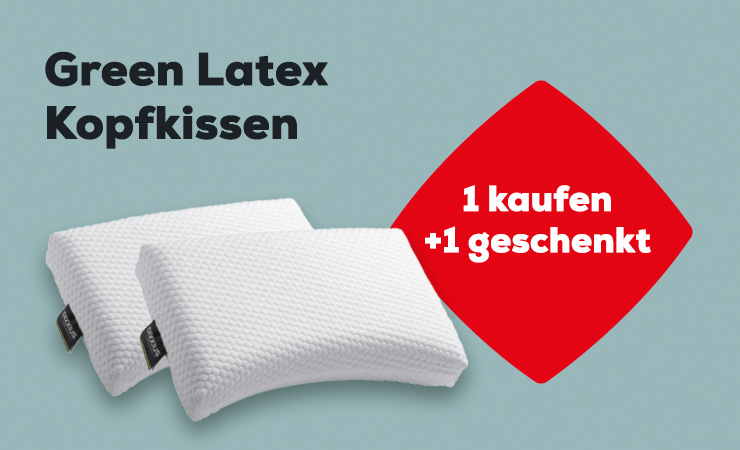 Aktion Green Latex Kopfkissen | Swiss Sense
