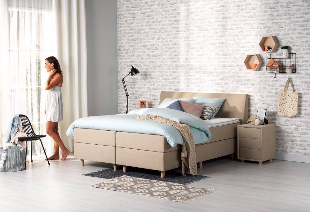 boxspringbett home 160 swiss sense. Black Bedroom Furniture Sets. Home Design Ideas