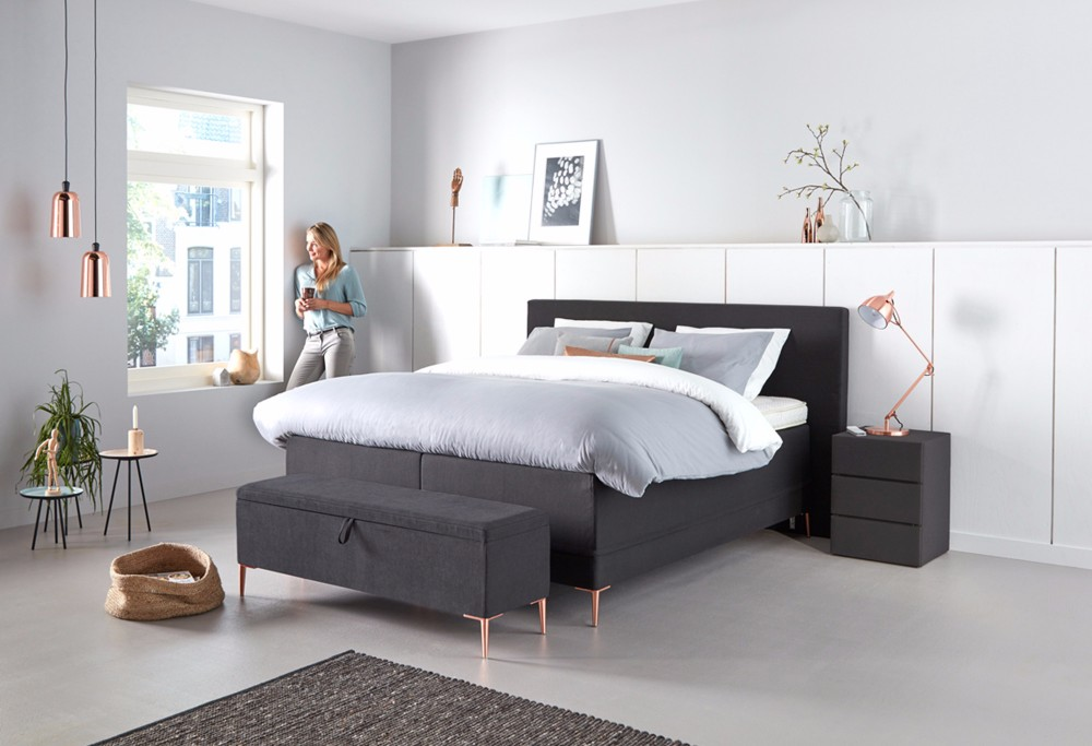 boxspringbett lifestyle 700 swiss sense. Black Bedroom Furniture Sets. Home Design Ideas