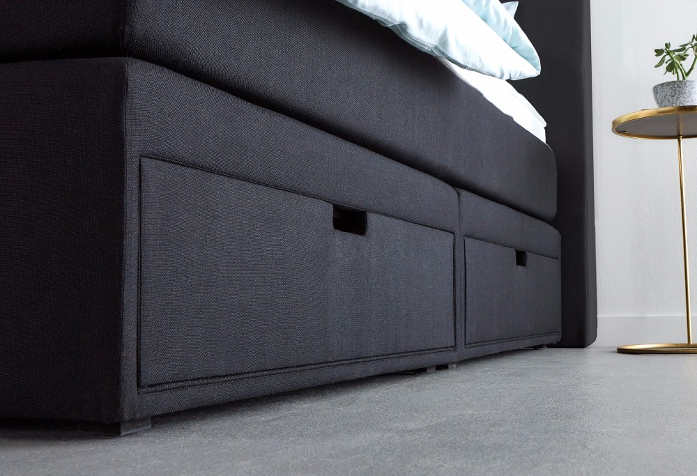 Schwarz Boxspringbett Home Storage