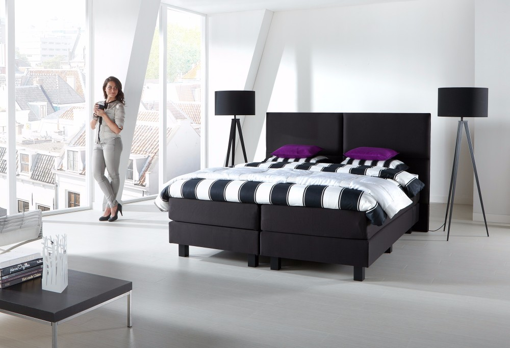 boxspringbett savelli quadro swiss sense. Black Bedroom Furniture Sets. Home Design Ideas