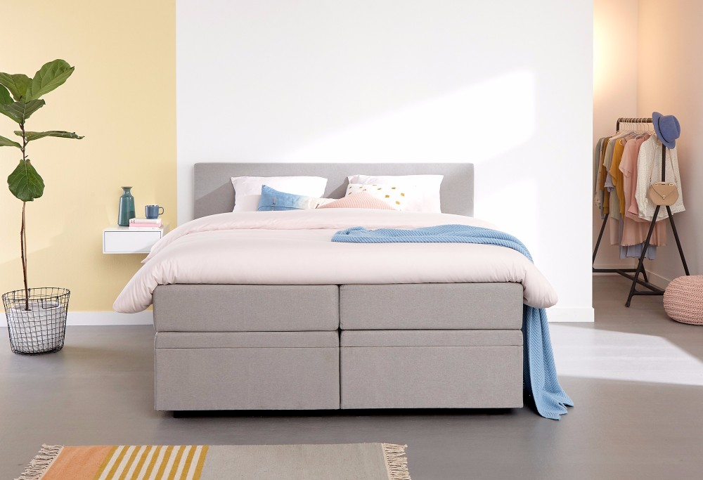 Grau boxspringbett Home Space