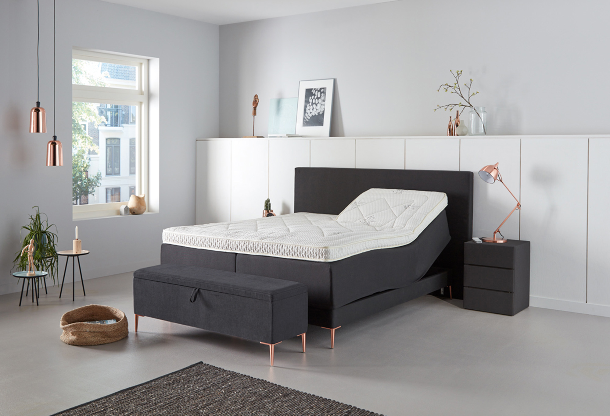 boxspringbett lifestyle 700 swiss sense. Black Bedroom Furniture Sets. Home Design Ideas