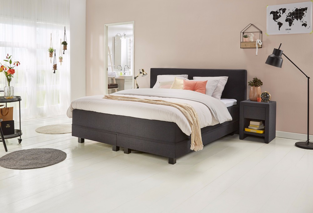 boxspring bett 200x220 fey boxspringbett coventry 160x200. Black Bedroom Furniture Sets. Home Design Ideas