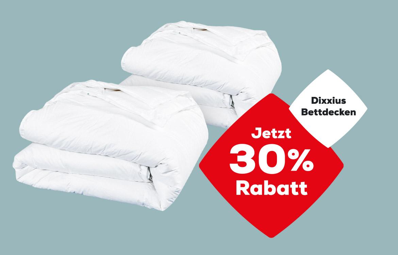 30% Rabatt auf Dixxius Bettdecken  Swiss Sense