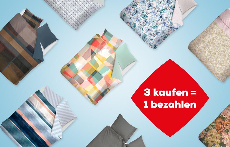 Bettwäsche Aktion 3 kaufen =1 bezahlen   Swiss Sense