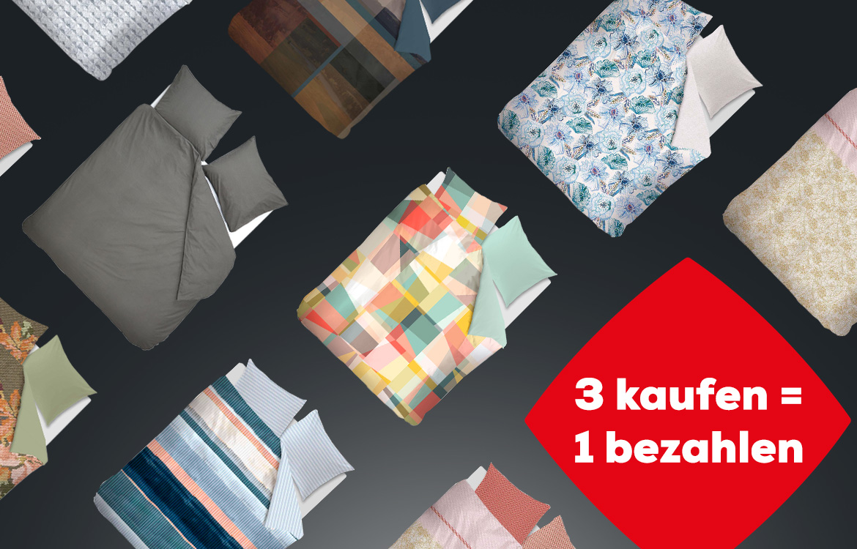 Bettwäsche Aktion 3 kaufen =1 bezahlen | Swiss Sense