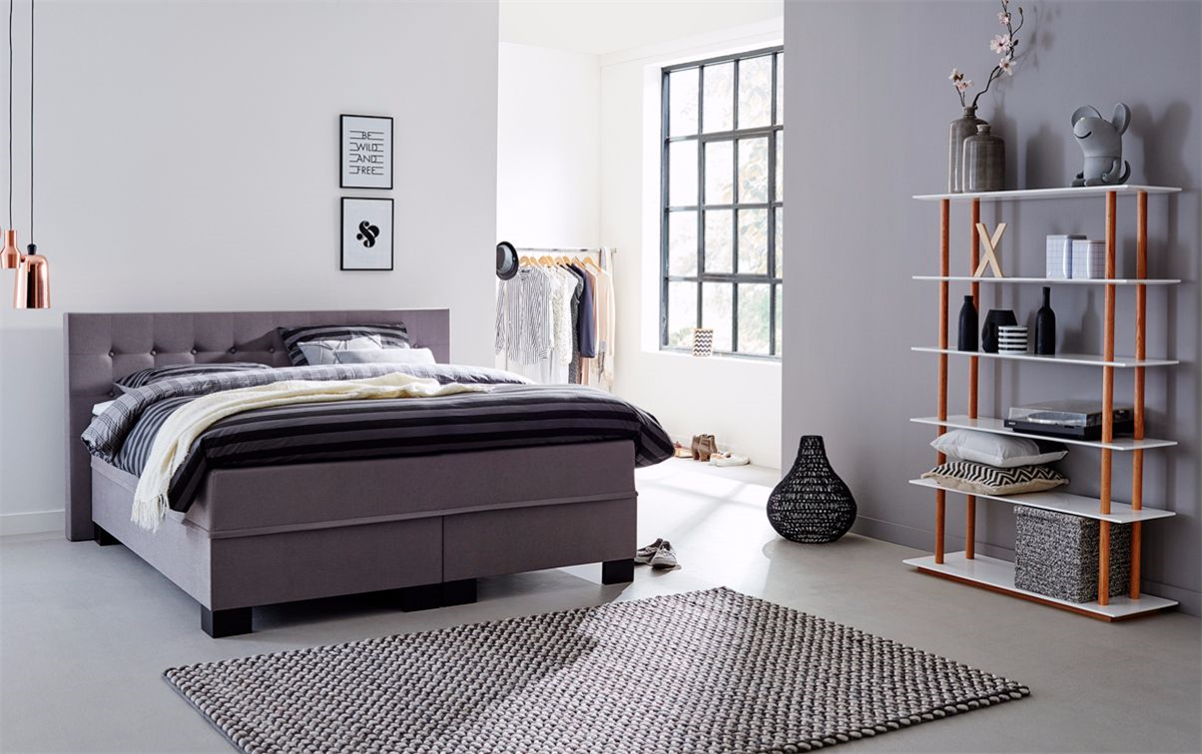 boxspringbett grau kaufen swiss sense gratis montage. Black Bedroom Furniture Sets. Home Design Ideas