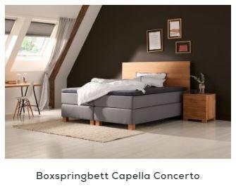 Boxspringbett Holz - Capella Concerto | Swiss Sense