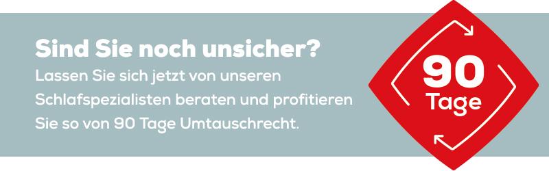90 Tage Umtauschrecht | Swiss Sense