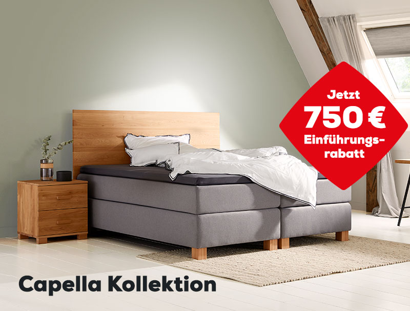 750 € Einführungsrabatt auf die Capella Kollektion | Swiss Sense
