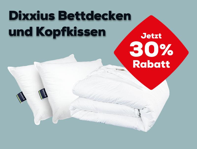 30% Rabatt auf Dixxius Kopfkissen und Bettdecken | Swiss Sense