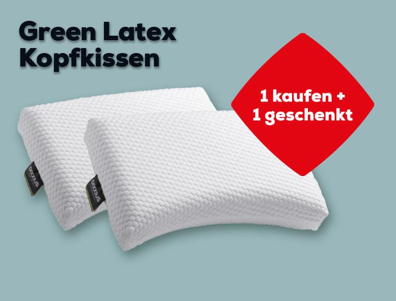 2 für 1 Green Latex Kopfkissen | Swiss Sense