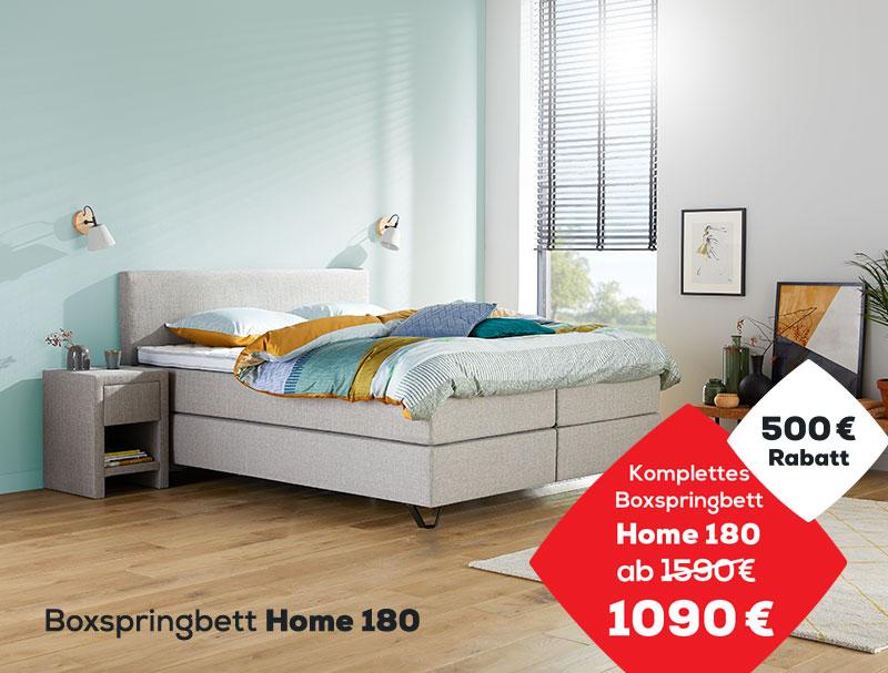 500 € Rabatt auf das Boxspringbett Home 180 | Swiss Sense