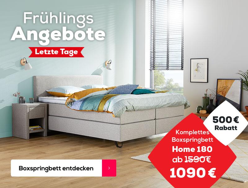 500 € Rabatt auf das Home 180 Boxspringbett | Swiss Sense