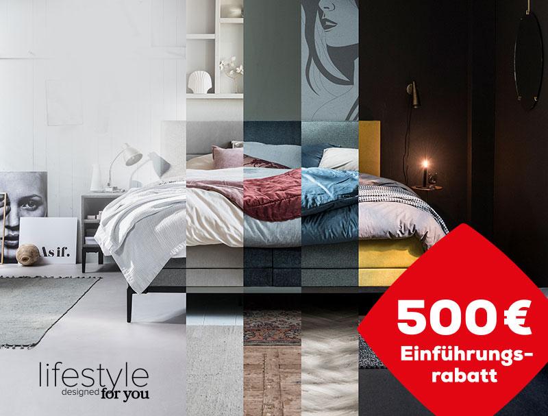500 € Einführungsrabatt auf die Lifestyle designed for you Kollektion | Swiss Sense