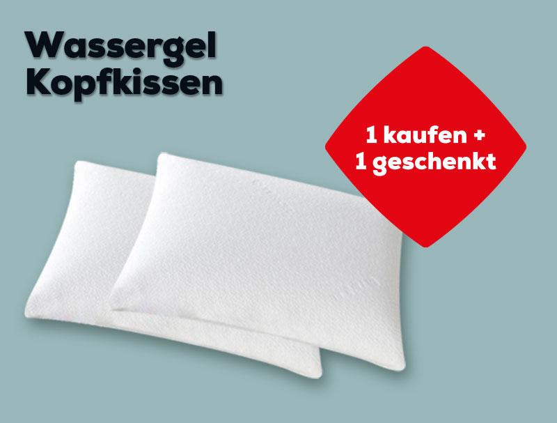 2 für 1 Wassergel Kopfkissen | Swiss Sense