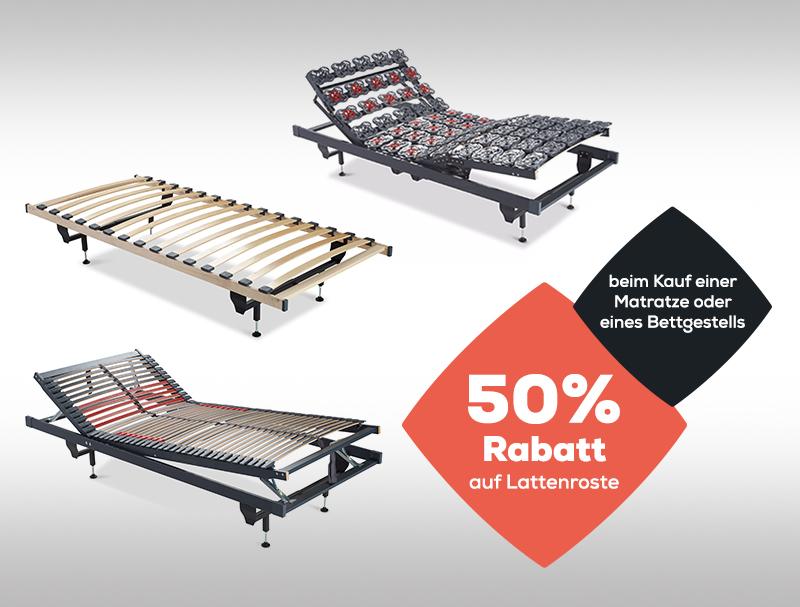50% Rabatt auf Lattenroste | beim Kauf einer Matratze | Swiss Sense