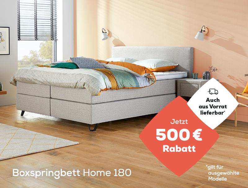 Boxspringbett Home 180 jetzt ab 1090 € (1590 €) während des Late Summer Deals | Jetzt 500 € Rabatt | Auch aus Vorrat lieferbar | Swiss Sense
