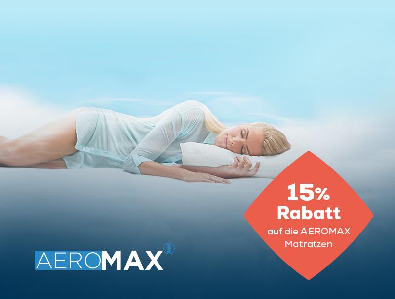 15% Rabatt auf AEROMAX Matratzen während des Late Summer Deals | Swiss Sense