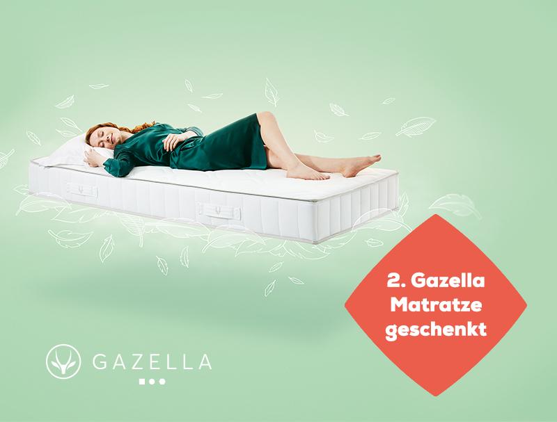 2 kaufen, 1 bezahlen auf Gazella Matratzen während des Late Summer Deals | Swiss Sense