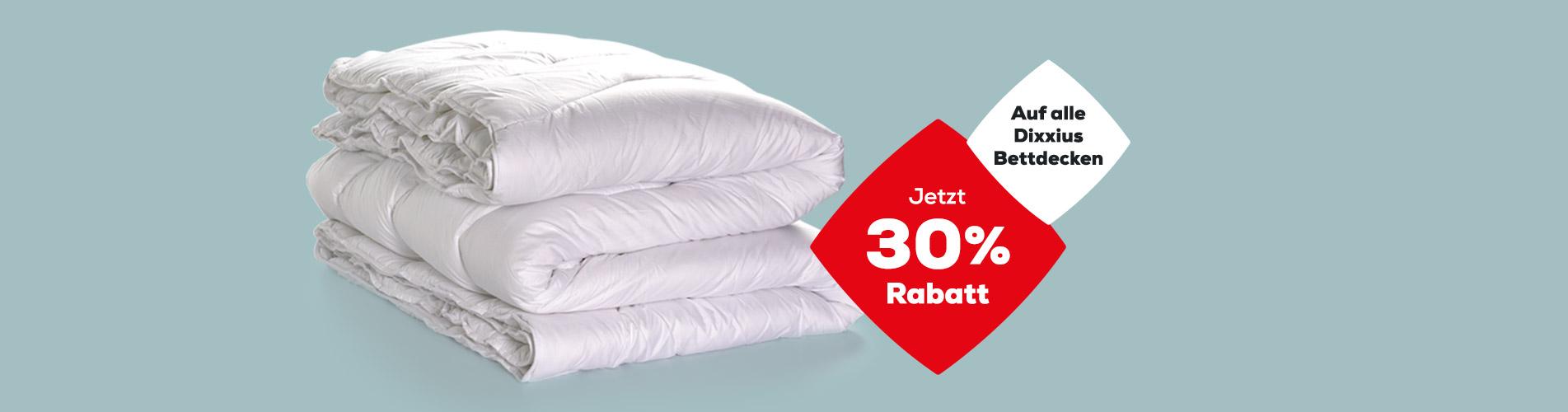 Letzte Tage 30% Rabatt auf Dixxius Bettdecken | Swiss Sense