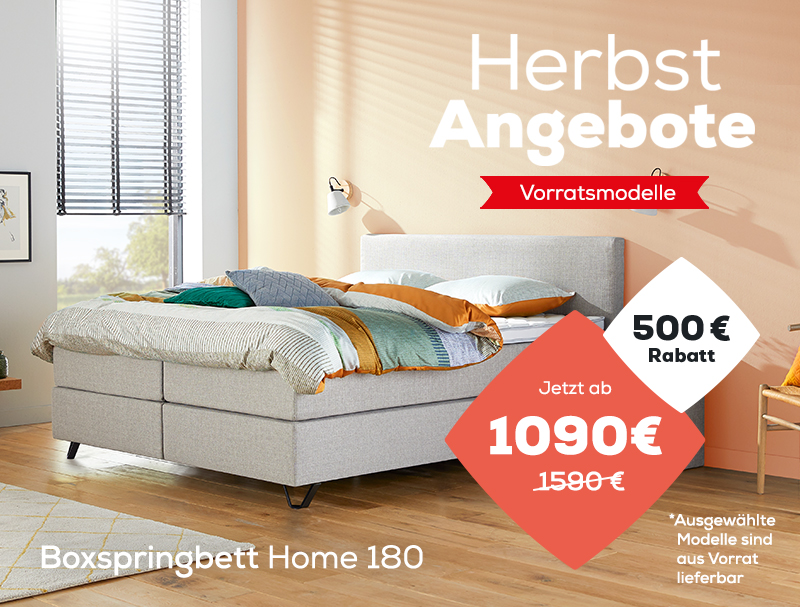 Boxspringbett Home 180- Herbst Angebote | Swiss Sense