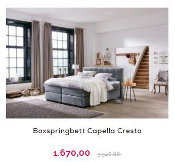 Kingsize Bett - Capella Cresto