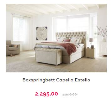 Kingsize Bett - Capella Estello