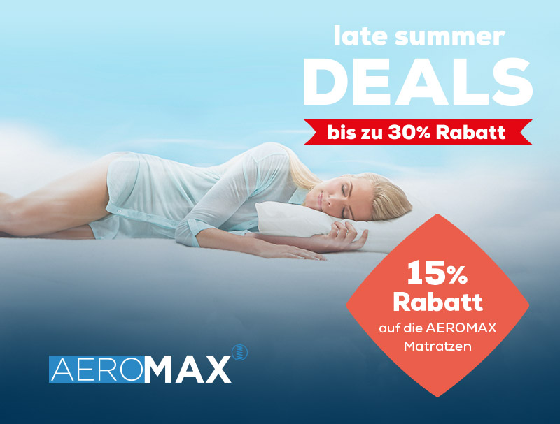 AEROMAX Matratzen - Late Summer Deals | Swiss Sense