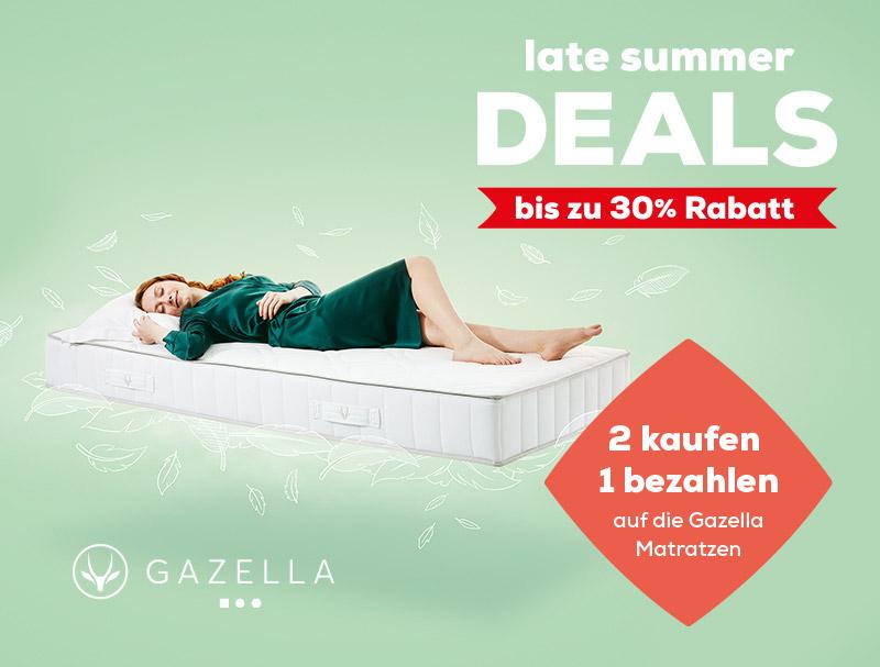 Gazella Matratzen - Late Summer Deals | Swiss Sense