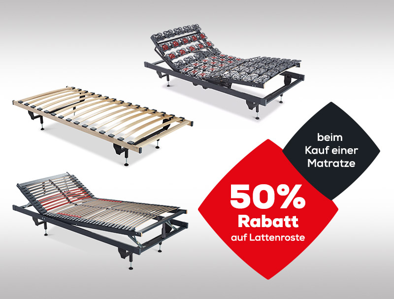 50% Rabatt auf Lattenroste - LMSS | Swiss Sense