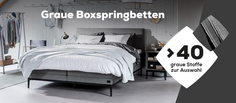 Graue Boxspringbetten   Swiss Sense