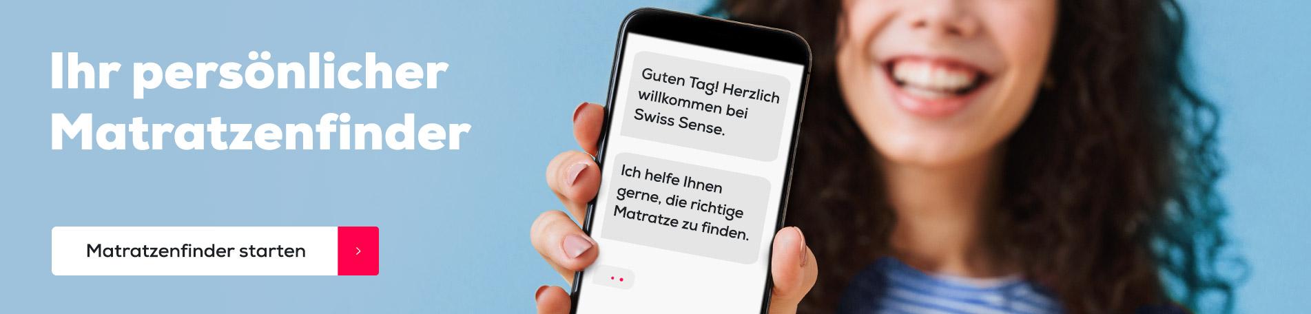 Matratzenfinder homepage | Swiss Sense