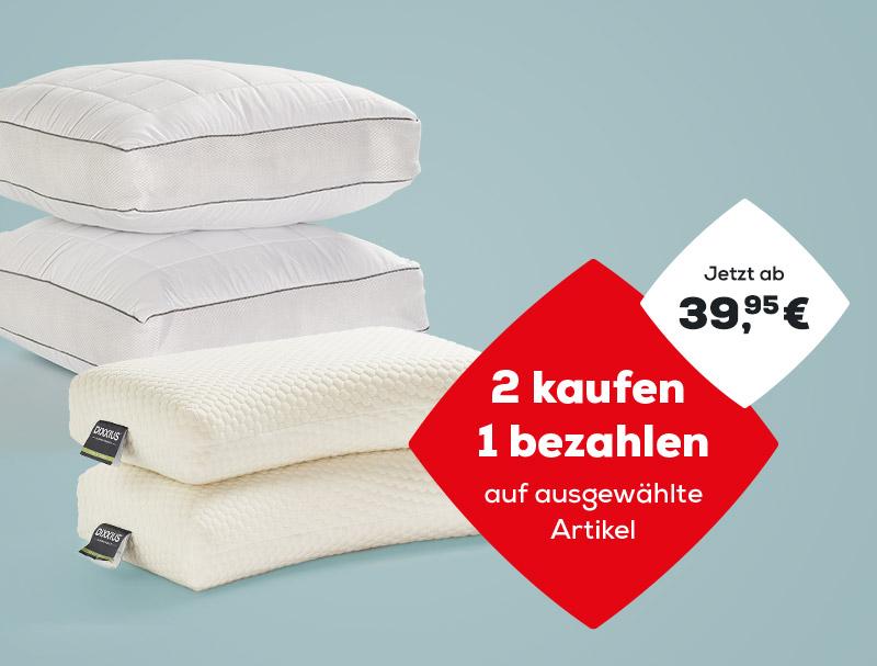 2 kaufen, 1 bezahlen auf ausgewählte Kopfkissen während des Summer Sales | Swiss Sense