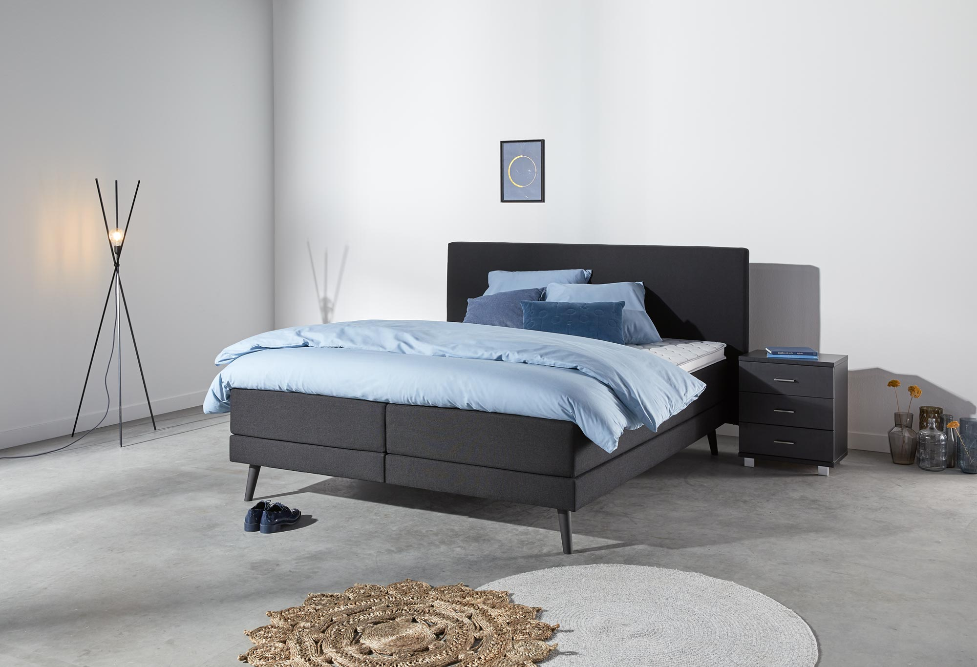 boxspringbett web only sparkle deluxe swiss sense. Black Bedroom Furniture Sets. Home Design Ideas
