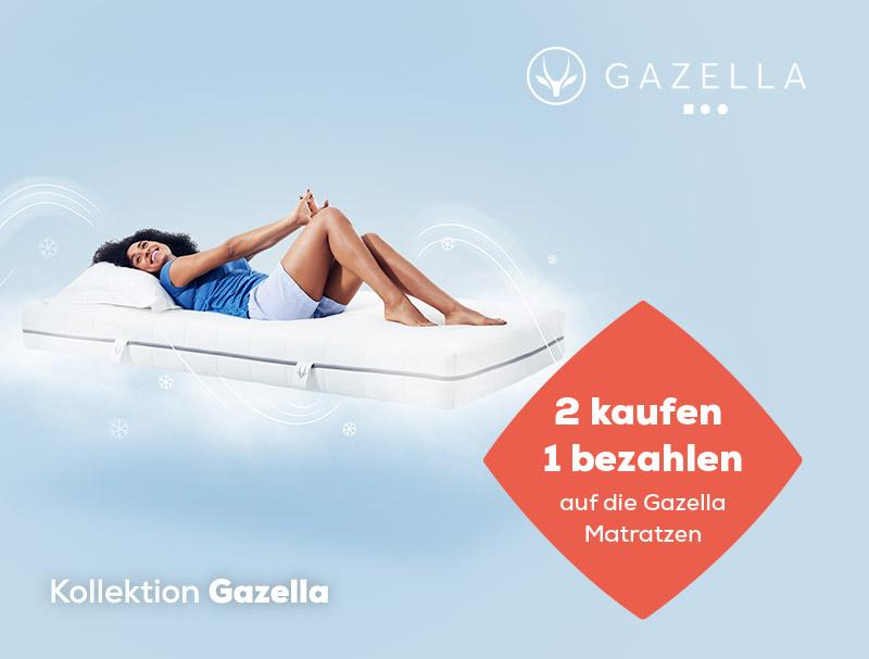 2 kaufen, 1 bezahlen auf Gazella Matratzen während des Summer Sales | Swiss Sense