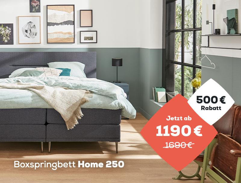500 € Rabatt auf das Home 250 Boxspringbett während des Summer Sales| Swiss Sense