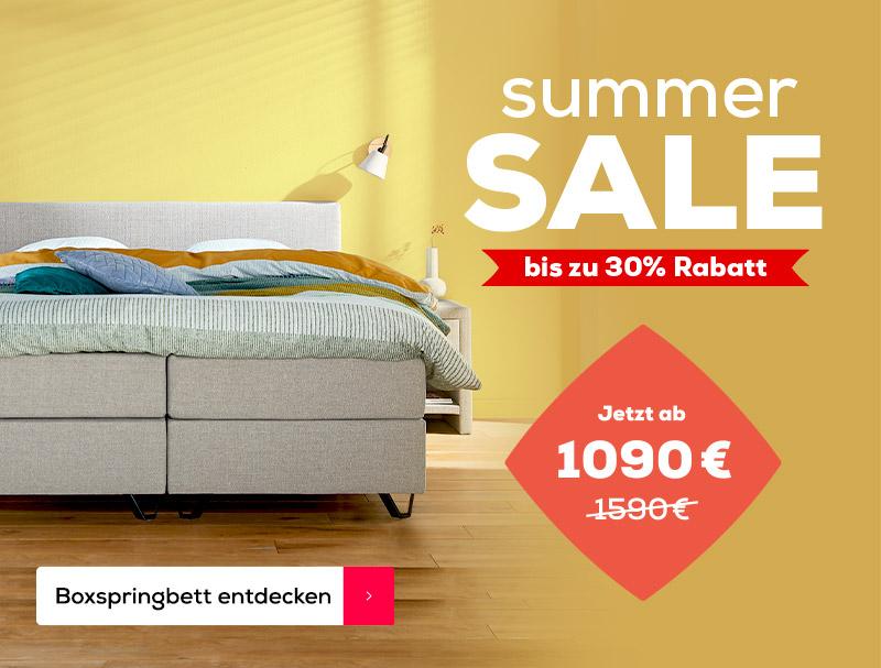500€ Rabatt auf das Boxspringbett Home 180 - Summer Sale | Swiss Sense