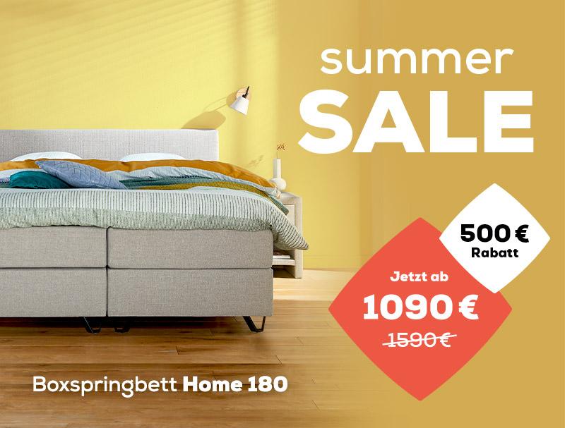 Boxspringbett Home 180 - Summer Sale | Swiss Sense