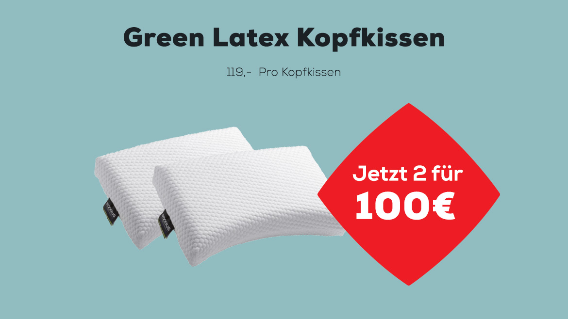 Green Latex Kopfkissen | Swiss Sense