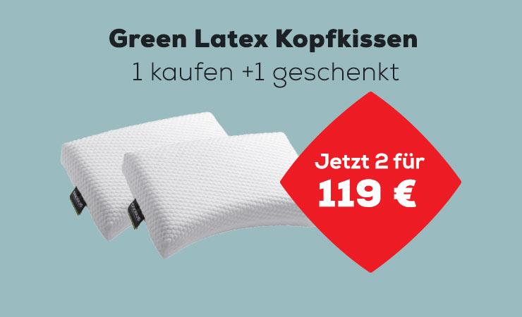 Actie Green Latex Hoofdkussen | Swiss Sense