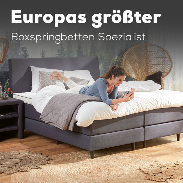 Europas größter Boxspringbetten Spezialist.   Swiss Sense
