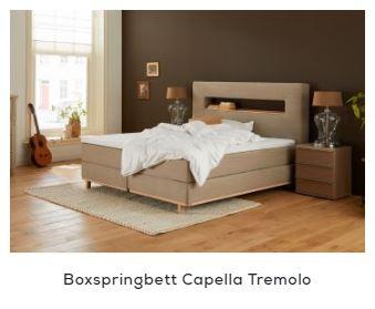 Boxspringbett Holz - Capella Tremolo | Swiss Sense