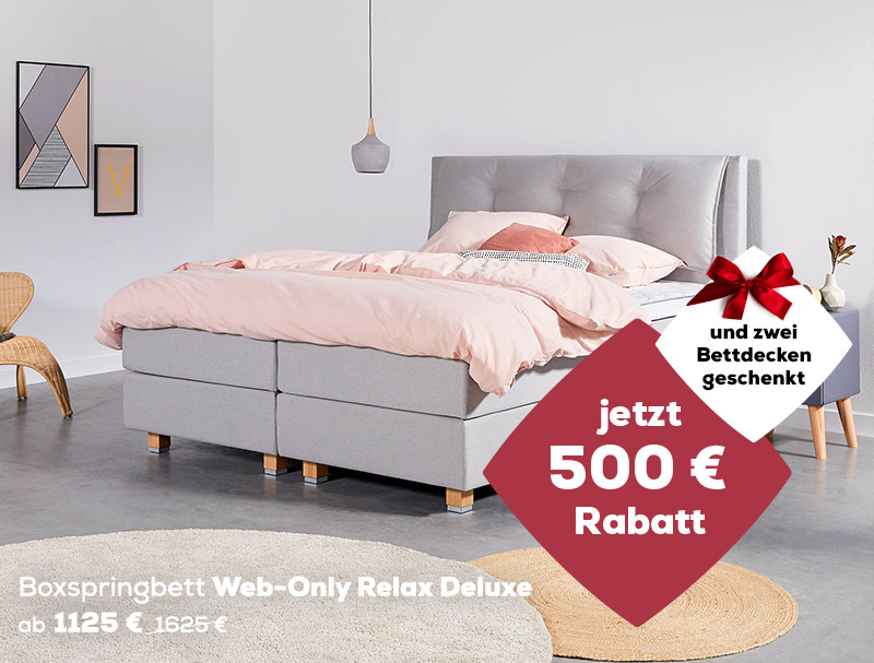 Web-Only Relax Deluxe | Aktionen Winter Sale| Swiss Sense