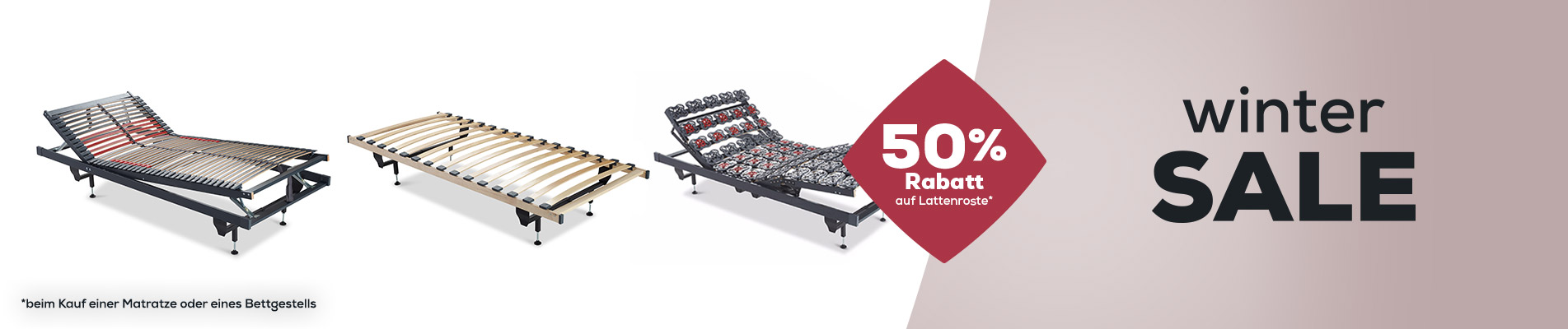 50% Rabatt auf Lattenroste - Wintersale | Swiss Sense