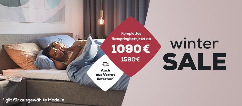 Boxspringbetten - Wintersale| Swiss Sense