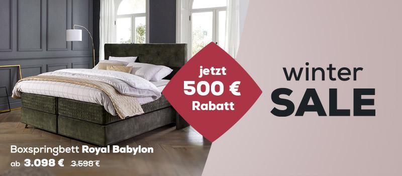 Boxspringbetten Royal Kollektion - Wintersale | Swiss Sense